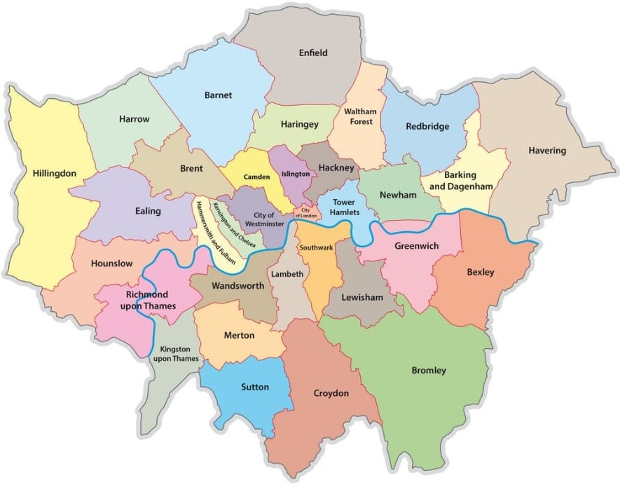 North, South, West, East London